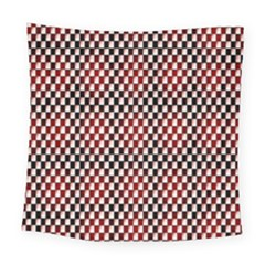 Squares Red Background Square Tapestry (large)