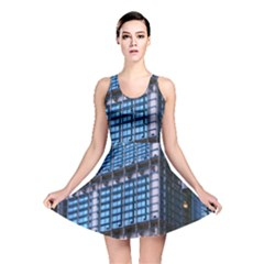 Modern Business Architecture Reversible Skater Dress