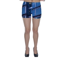 Modern Business Architecture Skinny Shorts