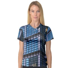 Modern Business Architecture Women s V-Neck Sport Mesh Tee