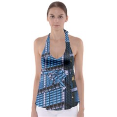 Modern Business Architecture Babydoll Tankini Top
