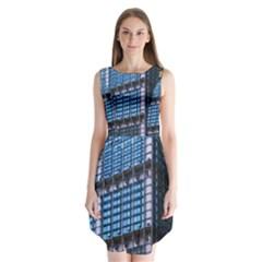 Modern Business Architecture Sleeveless Chiffon Dress