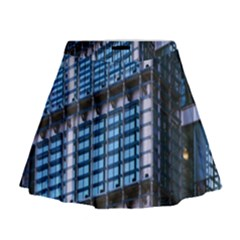 Modern Business Architecture Mini Flare Skirt
