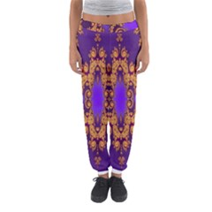 Something Different Fractal In Orange And Blue Women s Jogger Sweatpants