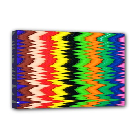 Colorful Liquid Zigzag Stripes Background Wallpaper Deluxe Canvas 18  x 12