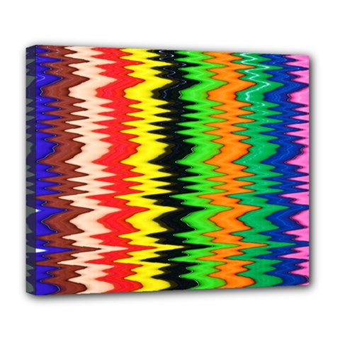 Colorful Liquid Zigzag Stripes Background Wallpaper Deluxe Canvas 24  X 20