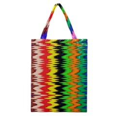 Colorful Liquid Zigzag Stripes Background Wallpaper Classic Tote Bag