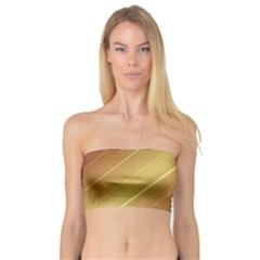 Diagonal Color Fractal Stripes In 3d Glass Frame Bandeau Top