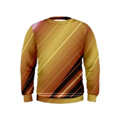 Diagonal Color Fractal Stripes In 3d Glass Frame Kids  Sweatshirt