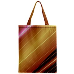 Diagonal Color Fractal Stripes In 3d Glass Frame Zipper Classic Tote Bag