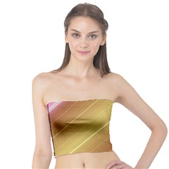 Diagonal Color Fractal Stripes In 3d Glass Frame Tube Top