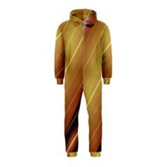 Diagonal Color Fractal Stripes In 3d Glass Frame Hooded Jumpsuit (Kids)
