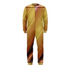 Diagonal Color Fractal Stripes In 3d Glass Frame OnePiece Jumpsuit (Kids)
