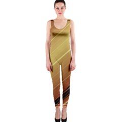 Diagonal Color Fractal Stripes In 3d Glass Frame OnePiece Catsuit