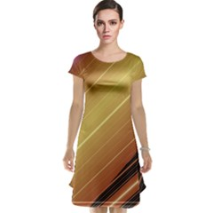 Diagonal Color Fractal Stripes In 3d Glass Frame Cap Sleeve Nightdress