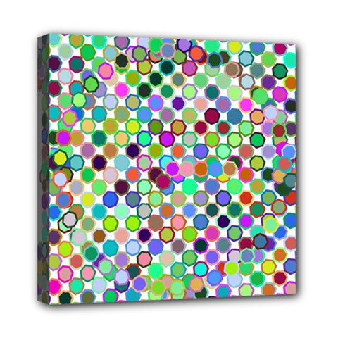 Colorful Dots Balls On White Background Mini Canvas 8  x 8