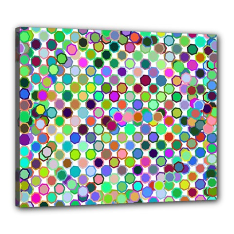 Colorful Dots Balls On White Background Canvas 24  X 20