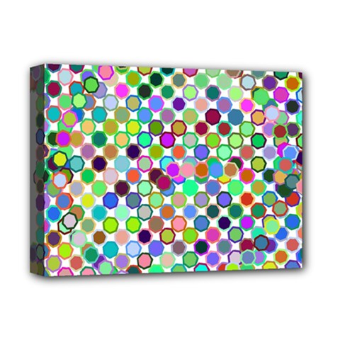 Colorful Dots Balls On White Background Deluxe Canvas 16  x 12