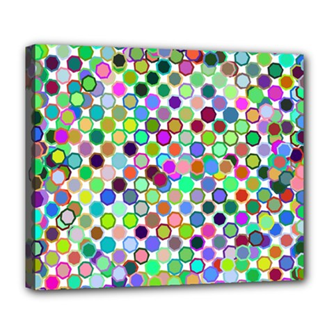 Colorful Dots Balls On White Background Deluxe Canvas 24  x 20