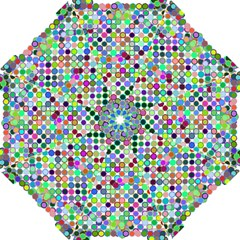 Colorful Dots Balls On White Background Golf Umbrellas