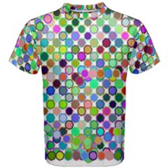 Colorful Dots Balls On White Background Men s Cotton Tee
