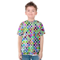 Colorful Dots Balls On White Background Kids  Cotton Tee