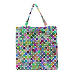 Colorful Dots Balls On White Background Grocery Tote Bag