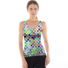 Colorful Dots Balls On White Background Tank Top