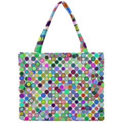 Colorful Dots Balls On White Background Mini Tote Bag