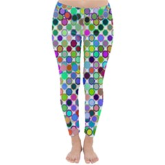 Colorful Dots Balls On White Background Classic Winter Leggings
