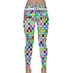 Colorful Dots Balls On White Background Classic Yoga Leggings