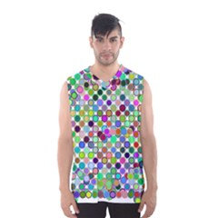 Colorful Dots Balls On White Background Men s Basketball Tank Top