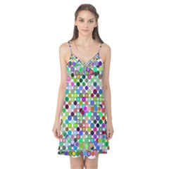 Colorful Dots Balls On White Background Camis Nightgown