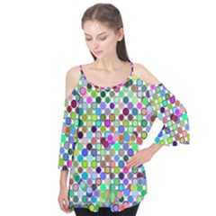 Colorful Dots Balls On White Background Flutter Tees