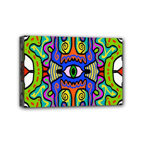 Abstract Shape Doodle Thing Mini Canvas 6  X 4