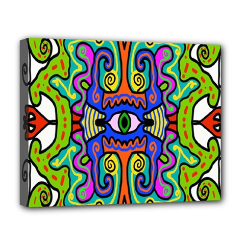 Abstract Shape Doodle Thing Deluxe Canvas 20  X 16