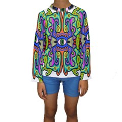 Abstract Shape Doodle Thing Kids  Long Sleeve Swimwear