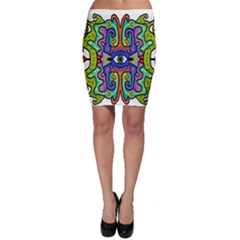 Abstract Shape Doodle Thing Bodycon Skirt