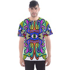 Abstract Shape Doodle Thing Men s Sport Mesh Tee