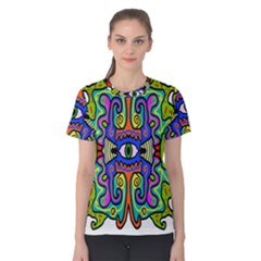Abstract Shape Doodle Thing Women s Cotton Tee