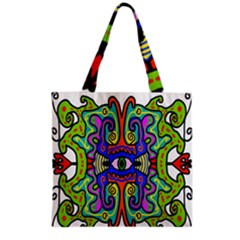 Abstract Shape Doodle Thing Grocery Tote Bag