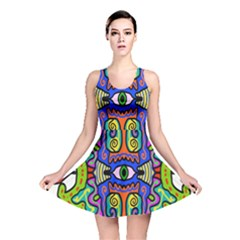 Abstract Shape Doodle Thing Reversible Skater Dress