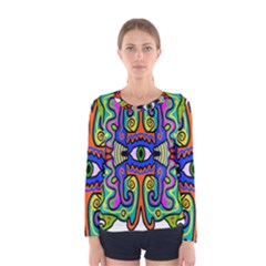 Abstract Shape Doodle Thing Women s Long Sleeve Tee