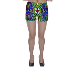 Abstract Shape Doodle Thing Skinny Shorts