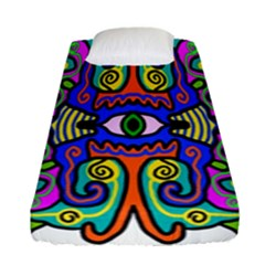 Abstract Shape Doodle Thing Fitted Sheet (single Size)