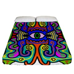 Abstract Shape Doodle Thing Fitted Sheet (queen Size)