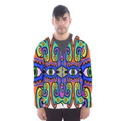 Abstract Shape Doodle Thing Hooded Wind Breaker (men)