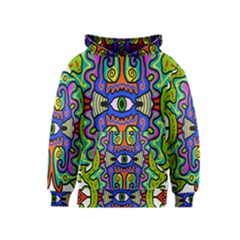 Abstract Shape Doodle Thing Kids  Pullover Hoodie