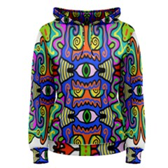 Abstract Shape Doodle Thing Women s Pullover Hoodie