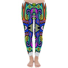 Abstract Shape Doodle Thing Classic Winter Leggings
